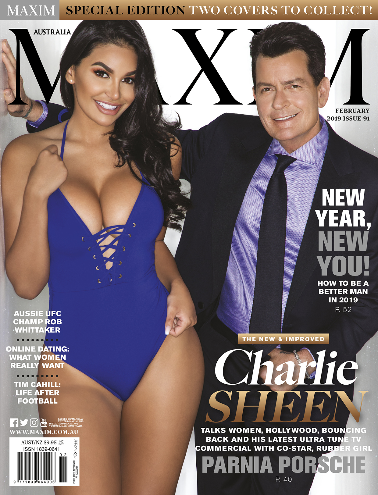 Parnia Porsche Charlie Sheen Maxim 2019